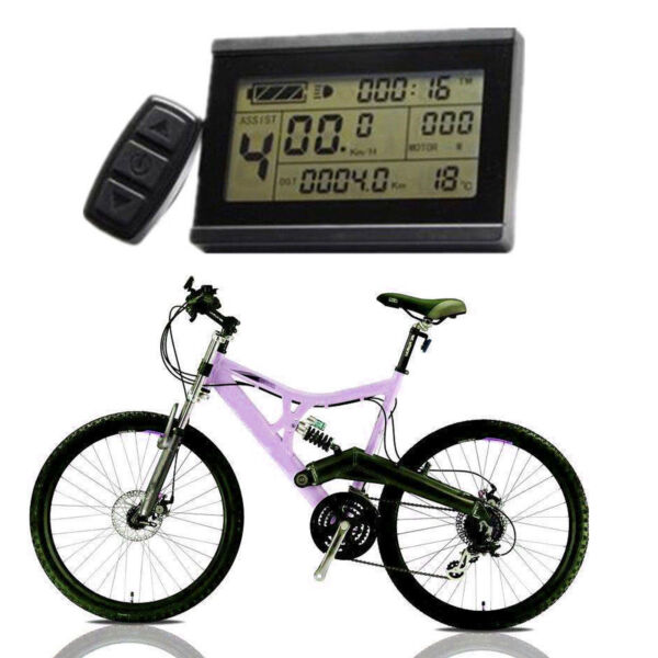 Risunmotor 24-48V KT LCD3 Display MeterControl Panel For Electric Bicycle eBike