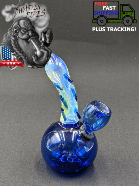 5quot; Inch Glass Hookah Water Pipe Bong Round Blue $10.50