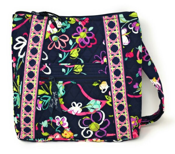 Vera Bradley Hipster Cross-body Bag in Ribbons with Pink Interior - NWOT