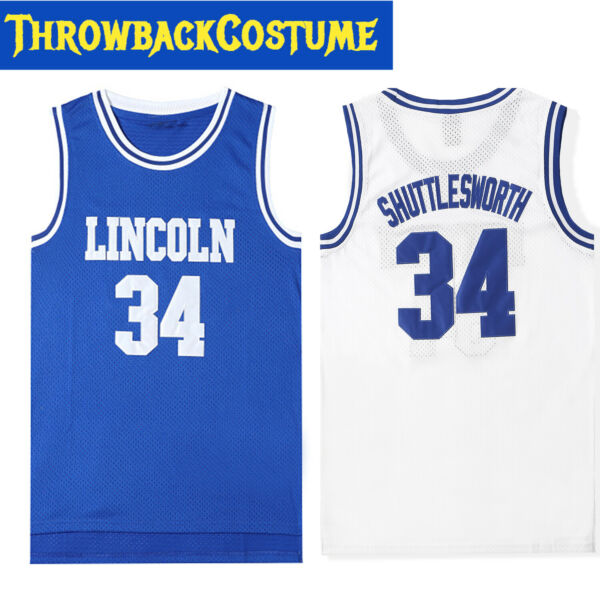 Jesus Shuttlesworth #34 Lincoln He Got Game Basketball Jersey Ray Allen 2 Colors $23.88
