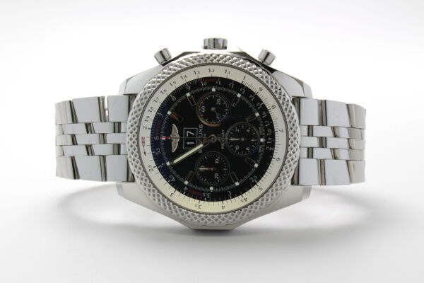 Breitling for Bentley 6.75 Speed Stainless Steel Black Split Dial A44364 990A