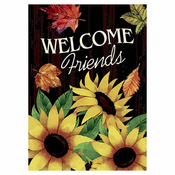 Morigins Welcome Friends Sweet Sunflowers Double Sided Outdoor Fall Garden Flag