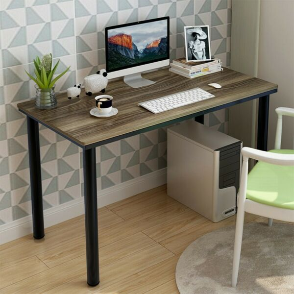 Computer Desk Black Table Small Home Office Laptop Compact Printer Furnitur