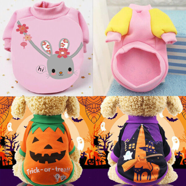 Small Dog Clothes Hoodie Chihuahua Clothes Warm Pet Puppy Winter Dog Clothing C $5.40