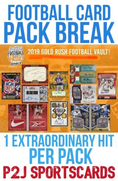 Gold Rush 2019 VAULT FOOTBALL CARD PACK BREAK 1 RANDOM TEAM Break 1067 NFL 🔥