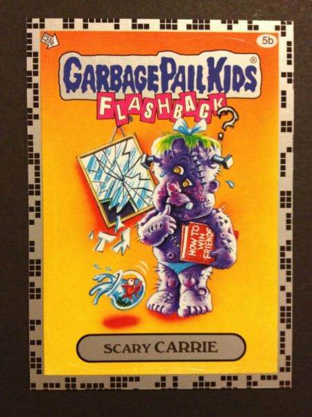 Garbage Pail Kids 2011 Flashback Series 2 #5b Scary Carrie SILVER MINT Card