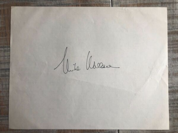 Mike Wallace Actor Journalist Game Show Host TV Autographed Signed Letterhead