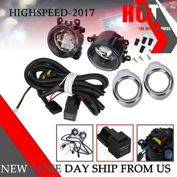 Pair FOG LIGHTS & WIRING KITS FOR MITSUBISHI OUTLANDER SPORT ASX RVR 2007~2019