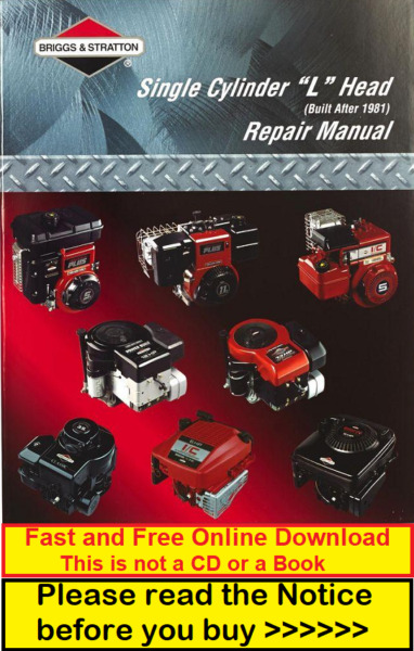 Briggs & Stratton Manual 270962 Single Cylinder L-Head Repair Service