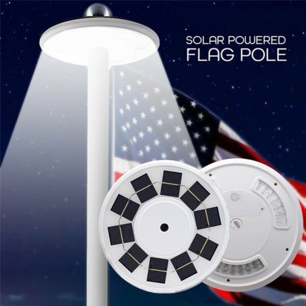 108 LEDs Solar Powered Flag Pole Light Automatic Waterproof Yard Camp Night Ligh