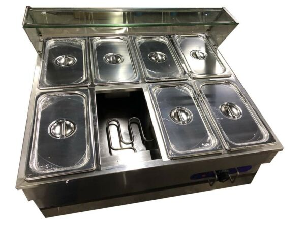 INTBUYING 8-Well Food Warmer Steam Table Countertop 110V 1500W 13 Pans