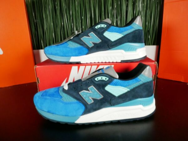 New Balance 998 Made In USA Blue Navy White Silver M998NE Multi Size