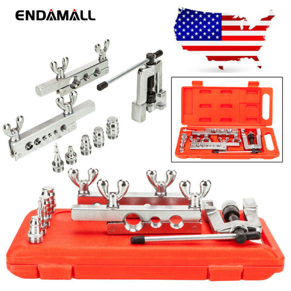 New HVAC Flaring and Swaging Tool Kit Flares Soft Refrigeration Copper Tubing