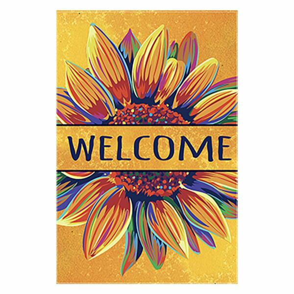 Morigins Welcome Fall Colorful Sunflower Double Sided Outdoor Autumn Garden Flag