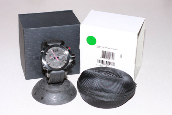 OAKLEY DOUBLE TAP WATCH STEALTH EDITION W UNOBTAINIUM BAND STAINLESS DOUBLETAP