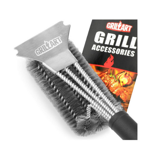 Barbecue Grill Brush Scraper Stainless Steel BBQ Cleaning Grate Heavy Duty Stain