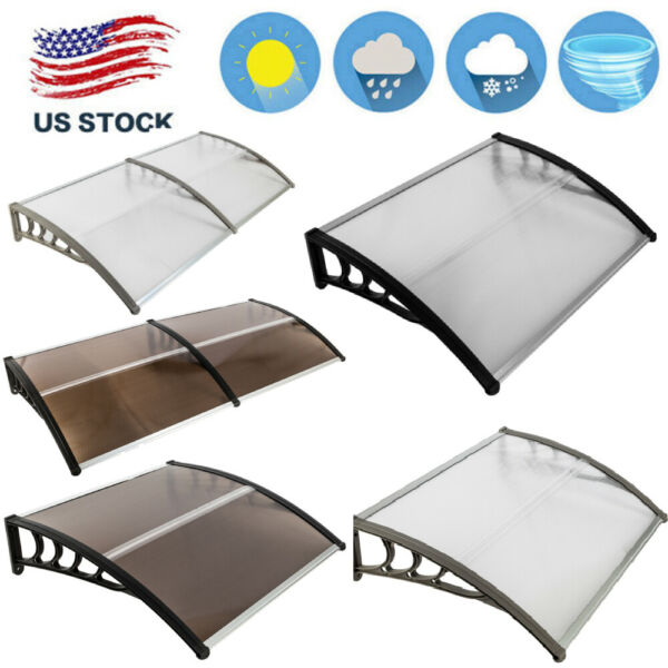 Window Canopy Door Awning Sun Shade Rain Cover Patio Protector Outdoor Shelter