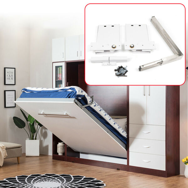 Wall Bed Mechanism Hardware Kit amp; Legs Small amp; Queen Size for Horizontal Wall $95.01