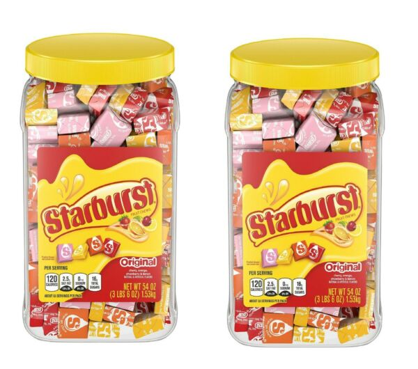 Starburst Original Fruit Chews Candy Jar (54 oz.) - pack of 2