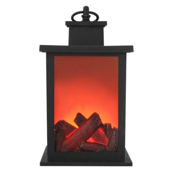 Flame Effect LED Lights Battery Simulated Fireplace Halloween Xmas Outdoor Decor