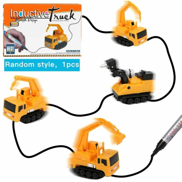 Magic Inductive Truck Toy Automatic Follow The Line You Draw Toy Car For Kids