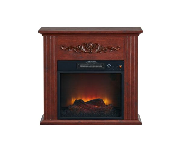 Electric Fireplace Heater LED Flame Effect Adjustable Temperature Remote Control