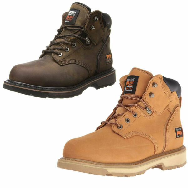 Men#x27;s Timberland PRO Pit Boss 6quot; Steel Toe Leather Work Safety Boots $103.45