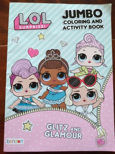 LOL Surprise Dolls Jumbo Coloring Book and Activity Book Glitz and GLAMOUR NEW