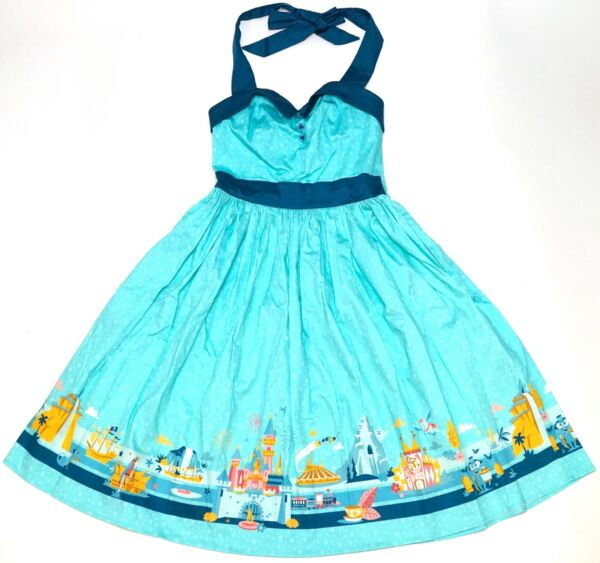 New Disney Parks The Dress Shop Aqua Disneyland Attractions Women's Dress XS-2X
