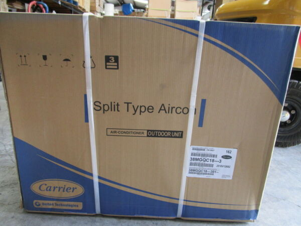 CARRIER SPLIT TYPE AIR CONDITIONER OUTDOOR UNIT #38MGQC18 3 NEW IN BOX $629.99