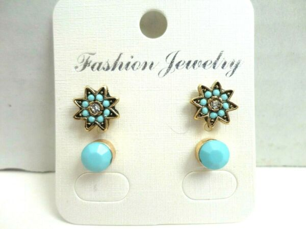Fashion Earrings Under $10 Fancy Stoned Star w Coordinating Round Stud Set $8.99