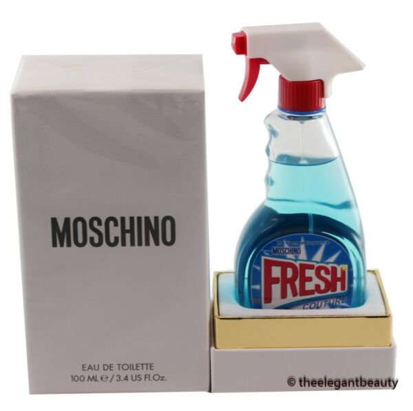 Moschino Fresh Couture By Jeremy Scott 3.3oz 100m Edt Spray for Women New In Box $36.99