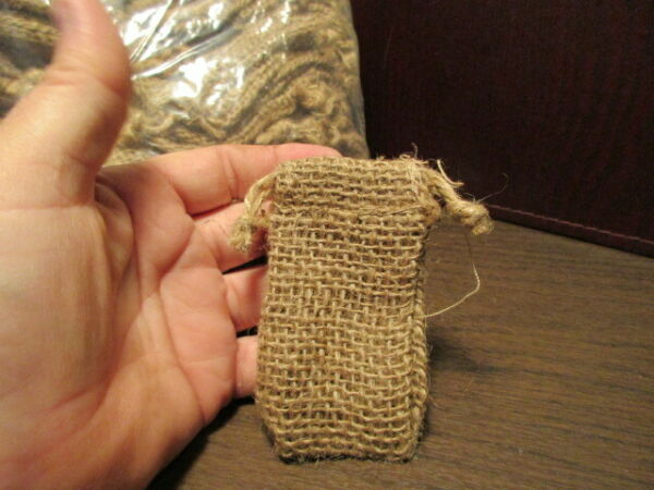 Crafts Over 60 Mini Burlap Bags w Drawstring for Gifts DIY Crafts 3.5quot;x 2quot;