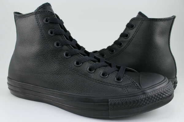 Converse Chuck Taylor All Star Hi Leather - Black Mono - High Top - 135251C -Men