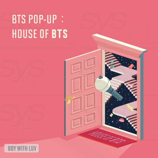 BTS POP-UP HOUSE OF BTS Official MD BOY WITH LUV Ver + Tracking Number