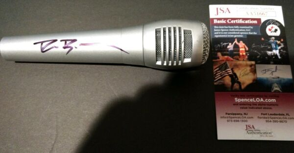 DIERKS BENTLEY SIGNED MICROPHONE AUTOGRAPH JSA The Mountain *PROOF*