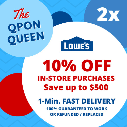 ONE Lowes $30 off $50 1Coupon (1X) IN-STORE ONLY - 1min Ship - (NOT 10 20)