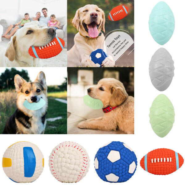 Pet Dog TPR Toy Rubber Ball Puppy Bite Chew Molar Interactive Training Toys