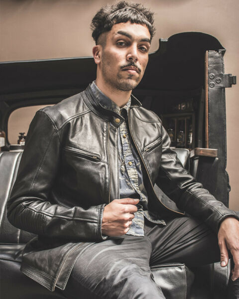 Men´s Leather jacket Argentinian premium leather