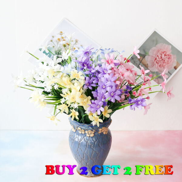 US 28 Heads Artificial Flower Small Lily Wedding Bouquet Home Decoration