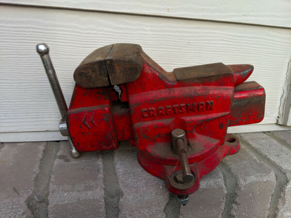 VINTAGE CRAFTSMAN SWIVEL BENCH VISE 391-5180 3 12