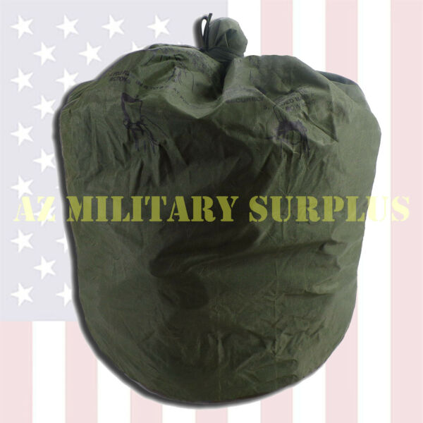 US Military Waterproof Clothing Bag Wet Weather Heavy Rubber Bonded Nylon VG