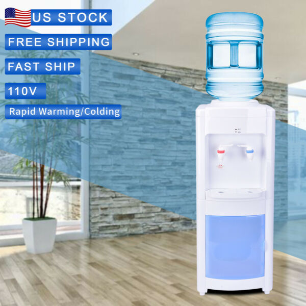 New Electric Top Loading Freestanding 5 Gallon HotCold Water Cooler Dispenser