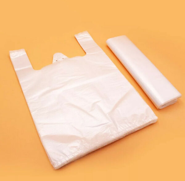 Plastic Bags Clear Polyethylene Disposable Bags with Handle Groceries Takeout $10.99