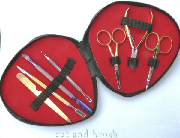 ManicurePedicure Tool Kits Nail pusher and digger Nail scraper gift case