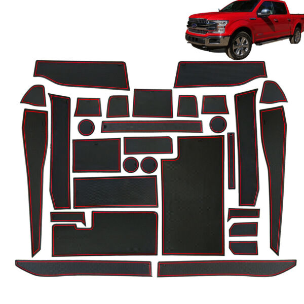 For Ford F-150 2017-2020 Cup Holder Door Center Console Liner Accessories 30PC