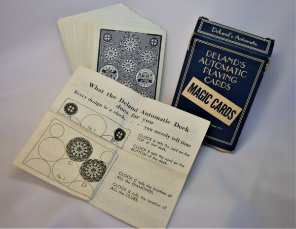 1913 Complete DeLands  Automatic Playing Cards Deck Magic w Instructions $7.20