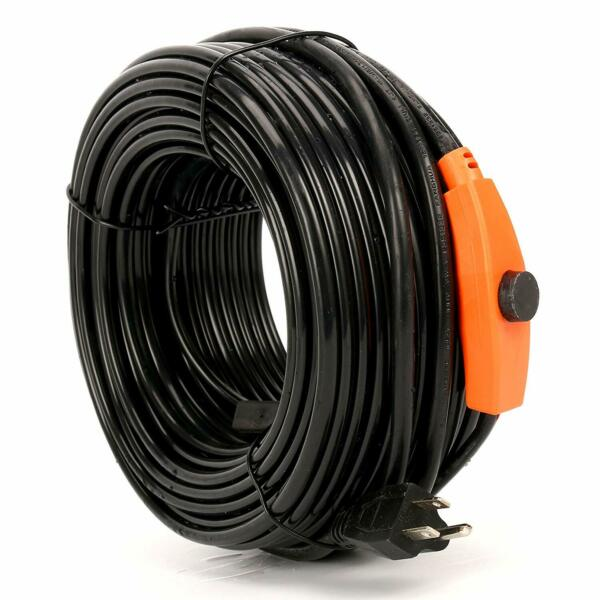 20-200 Ft Heat Roof Gutter De-icing Ice Snow Melter Cable Tape Kitw Thermostat