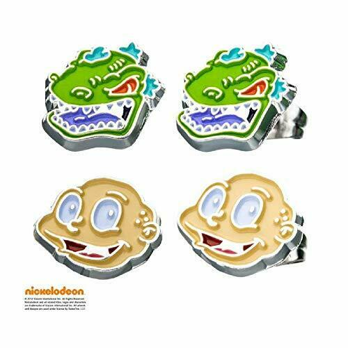 Tommy and Reptar Stainless Steel Premium Quality Stud Earrings Set $24.49