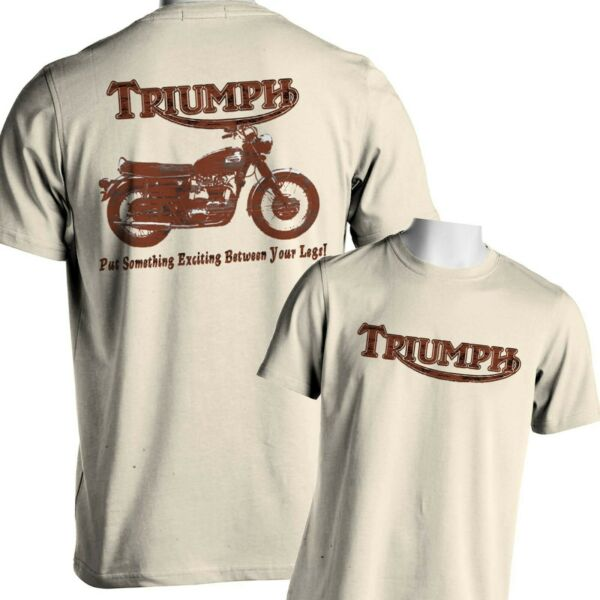 Motorcycle T-Shirt Vintage Triumph Classic British Mens Small to 6x and Tall